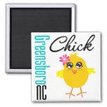 Greensboro NC Chick Fridge Magnets