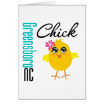 Greensboro NC Chick Greeting Card