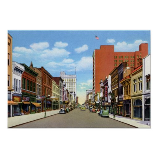 Greensboro North Carolina Elm Street Poster