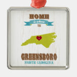Greensboro, North Carolina Map – Home Is Where The Christmas Tree Ornaments