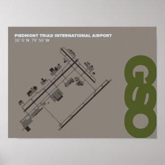 Greensboro Piedmont Triad Airport (GSO) Poster