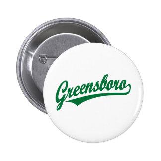 Greensboro script logo in green button