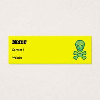 greenskull, Name, Contact 1, Website Mini Business Card