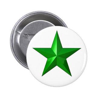 GreenStarButton Pin Redondo 5 Cm