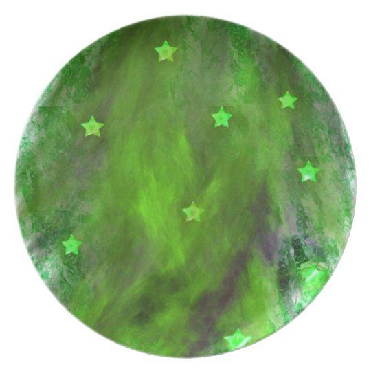 greenstarred haze melamine plate