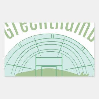 Greenthumb Pegatina Rectangular