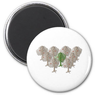 GreenTreeInForest012511 2 Inch Round Magnet