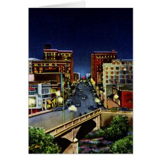 Greenville at Night South Carolina Cards