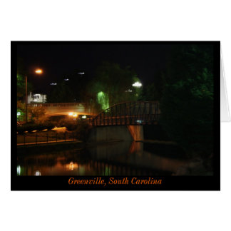 Greenville at Night Stationery Note Card