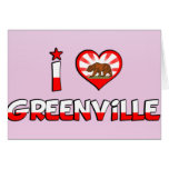 Greenville, CA Greeting Card