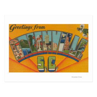 Greenville, Carolina del Sur - escenas grandes de Postales
