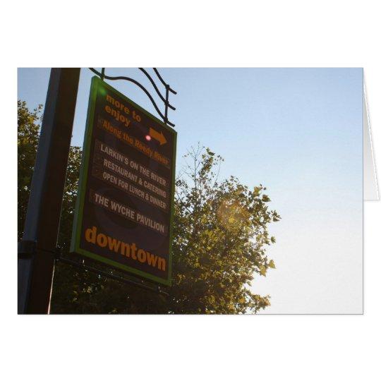 Greenville Downtown Fading Sun Card