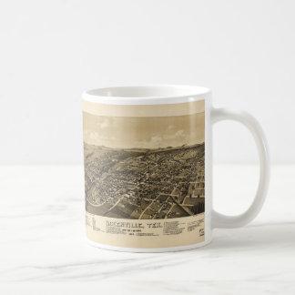 Greenville Hunt County Texas Map (1886) Coffee Mug