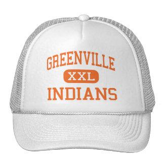 Greenville - Indians - High - Greenville Trucker Hats