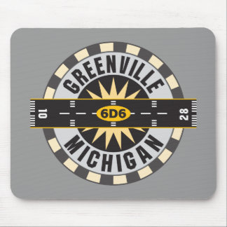 Greenville, MI 6D6 Airport Mouse Pad