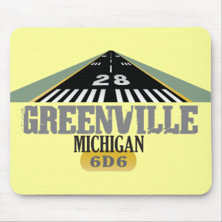 Greenville MI - Airport Runway Mouse Pad