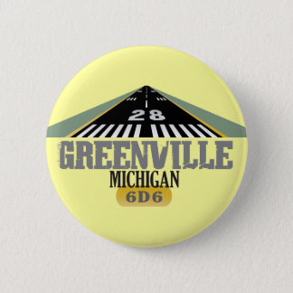 Greenville MI - Airport Runway Pinback Button