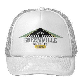 Greenville MI - Pista del aeropuerto Gorras De Camionero