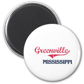 Greenville Mississippi City Classic 2 Inch Round Magnet