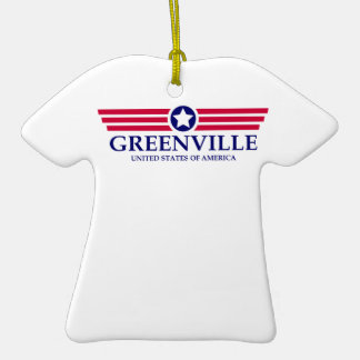 Greenville NC Pride Double-Sided T-Shirt Ceramic Christmas Ornament