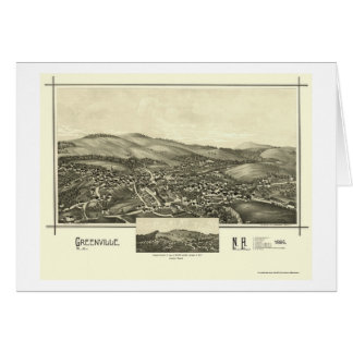 Greenville, NH Panoramic Map - 1886 Greeting Cards