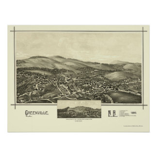 Greenville, NH Panoramic Map - 1886 Poster