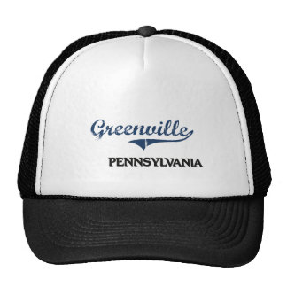 Greenville Pennsylvania City Classic Hats