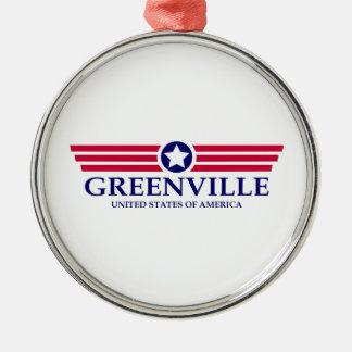 Greenville SC Pride Round Metal Christmas Ornament