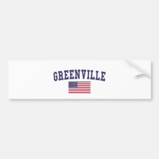 Greenville SC US Flag Bumper Sticker