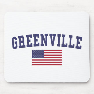 Greenville SC US Flag Mouse Pad