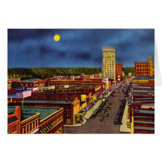 Greenville, South Carolina Downtown at Night Card