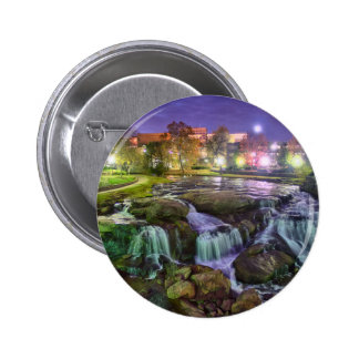 greenville south carolina downtown city night sout pinback button