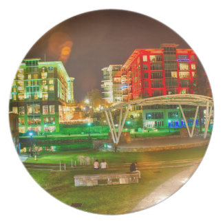 greenville,south,carolina,downtown,city,night,sout plate