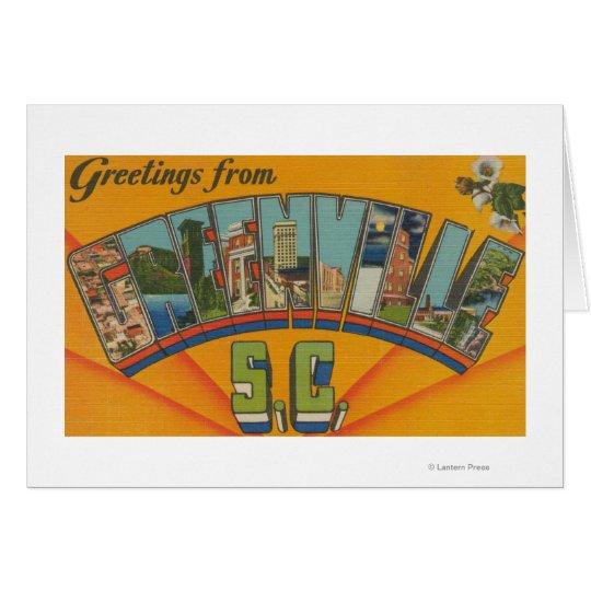 Greenville, South Carolina - Large Letter Scenes Card