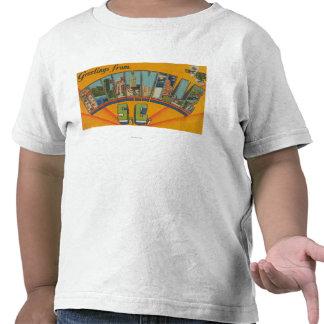 Greenville South Carolina - Large Letter Scenes T Shirt
