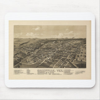 Greenville Texas in 1886 Mouse Pad
