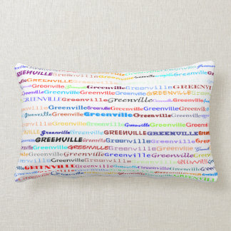 Greenville Text Design II Lumbar Pillow