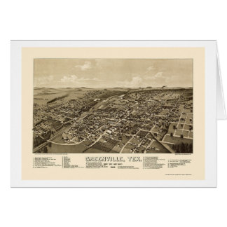 Greenville, TX Panoramic Map - 1886 Cards