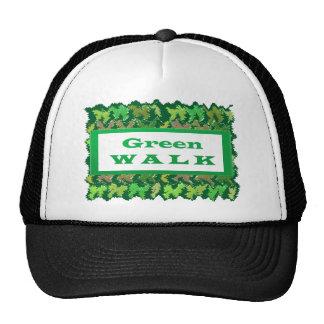 Greenwalk VERDE del PASEO Gorros Bordados