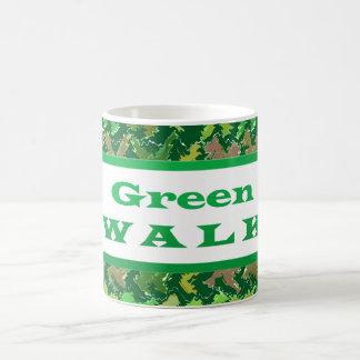 Greenwalk VERDE del PASEO Taza Básica Blanca
