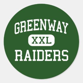 Greenway - Raiders - High - Coleraine Minnesota Classic Round Sticker