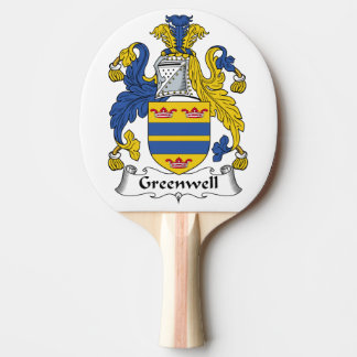 Greenwell Family Crest Ping Pong Paddle