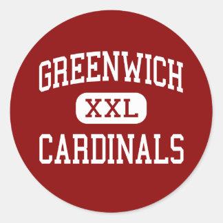 Greenwich - Cardinals - High - Greenwich Classic Round Sticker