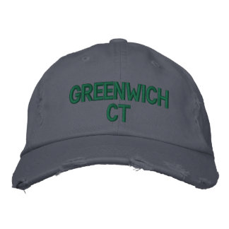 GREENWICH CT - EMBROIDERED CAP EMBROIDERED BASEBALL CAP