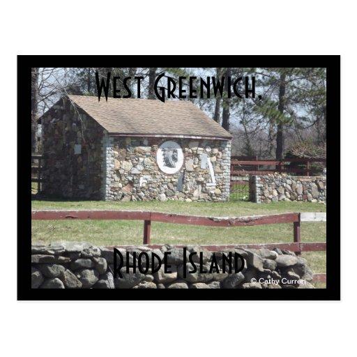 Greenwich del oeste, Rhode Island Tarjeta Postal