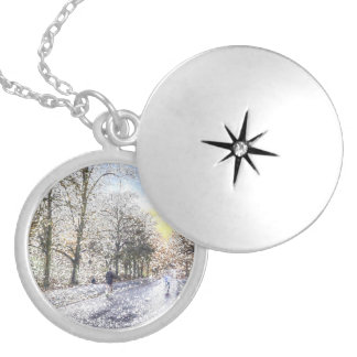 Greenwich Park London Art Locket Necklace