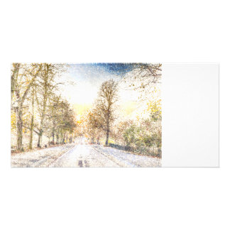 Greenwich Park London Art Personalised Photo Card