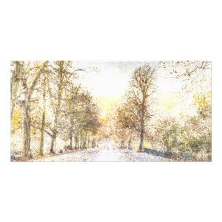 Greenwich Park London Art Personalized Photo Card