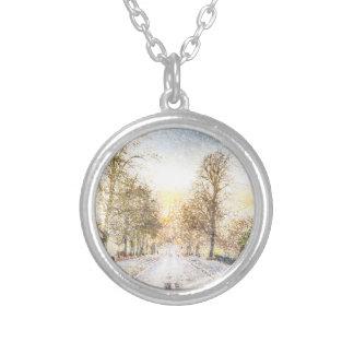 Greenwich Park London Art Round Pendant Necklace