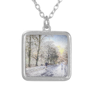 Greenwich Park London Art Silver Plated Necklace